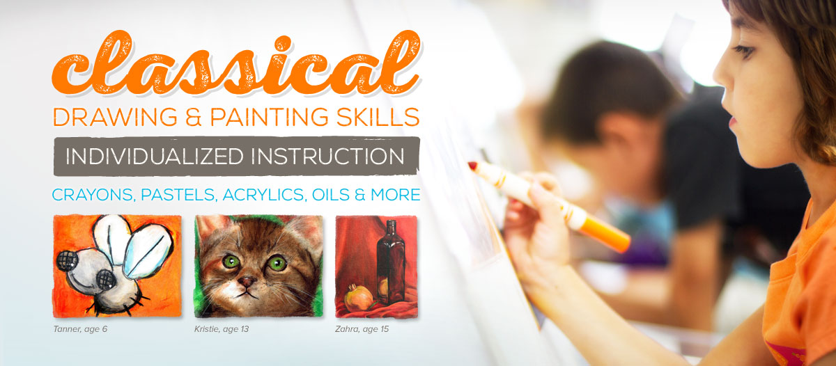 """Classical Drawing and Painting Skills - Individualized Instruction - Crayons, Pastels, Acrylics, Oils, and more..."""